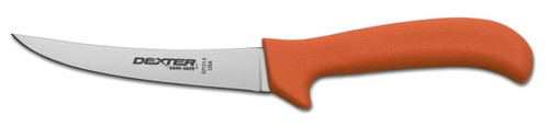 "Dexter Russell Sani-Safe 5"" Curved Semi-Flex Boning Knife Orange Handle 11283 Ep131-5"