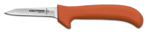 "Dexter Russell Sani-Safe 3 1/4"" Wide Clip Point Deboning Knife Orange Handle 11373 Ep152Whg"