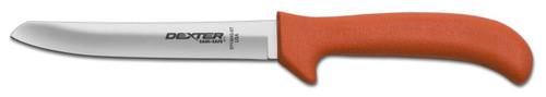 """Dexter Russell Sani-Safe 6"""" Hollow Ground Deboning Knife Safety Tip Orange Handle 11403 Ep156Hg-St"""