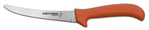 """Dexter Russell Sani-Safe 5"""" Curved Semi-Flex Boning Knife Safety Tip Orange Handle 11433 Ep131-5St"""