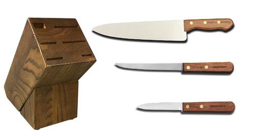 Dexter Russell Cutlery Traditional Starter Knife Block Set VB4038