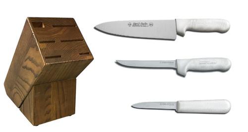 Dexter Russell Cutlery Sani-Safe Starter Knife Block Set VB4039