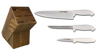 Dexter Russell Cutlery SofGrip Starter Knife Block Set - White Handles VB4040