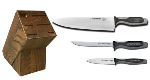 Dexter Russell Cutlery V-Lo Starter Knife Block Set VB4042