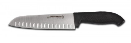 "Dexter Russell SofGrip 9"" Duo-Edge Santoku Knife 24513B SG144-9GEB"