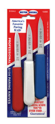 "Dexter Russell Sani-Safe 3 1/4""  3-pack of parers in Red White & Blue 15493 S104-3RWC"