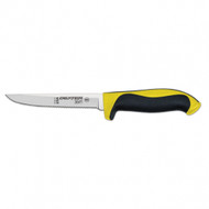 "Dexter Russell 360 Series 5"" scalloped utility knife yellow handle 36003Y S360-5SC-PCP"