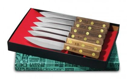 Dexter Russell 6 pc. Steak Knife Set With Walnut Handles 20041 #2 Set