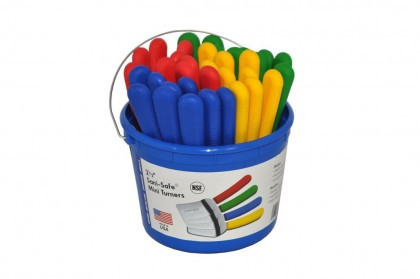 "Dexter Russell Sani-Safe Bucket of 36 2 1/2"" Mini Turners 16183 S171-36B"