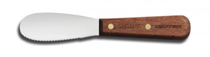 """Dexter Russell Traditional 3 1/2"""" Scalloped Sandwich Spreader 18120 S2493 1/2SC"""