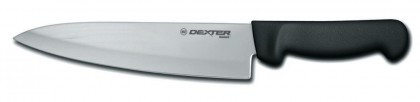 "Dexter Russell Basics 8"" Cooks Knife Black Handle 31600B P94801B (31600B)"
