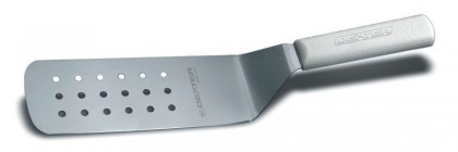 """Dexter Russell Sani-Safe 8""""x3"""" Perforated Turner Yellow Handle 19703Y PS286-8Y-PCP (19703Y)"""