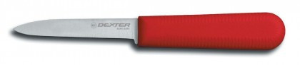 "Dexter Russell Sani-Safe 3 1/4"" Cooks Style Paring Knife Red Handle 15303R S104R-PCP (15303R)"