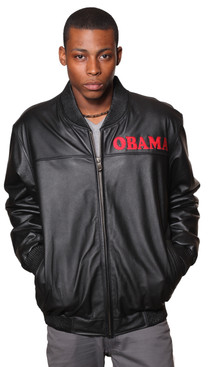 Wilda | Barack Obama Leather Bomber Jacket