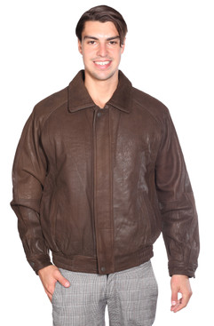 Wilda | Sean Leather Bomber Jacket