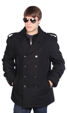 Wilda | Avery Military Wool Peacoat