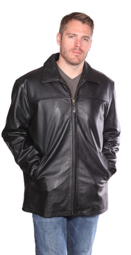 Christian NY | Camden Leather Hipster Coat