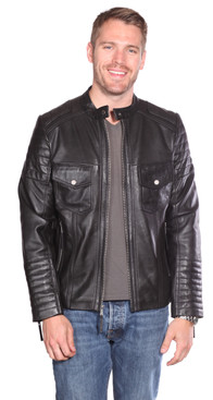 Christian NY | Flynn Leather Quilted Jacket