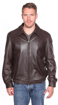 Christian NY | Walden Leather Bomber Jacket