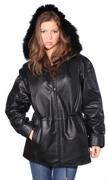 Christian NY | Sonia Leather Parka