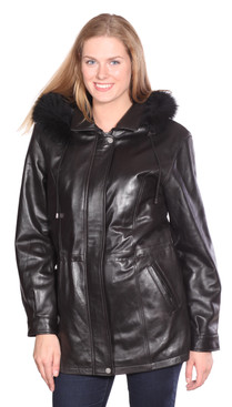 Chrisian NY | Mandy Leather Parka