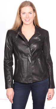 NuBorn Leather | Charlene Leather Moto Jacket