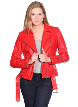 NuBorn Leather | Monica Leather Moto Jacket