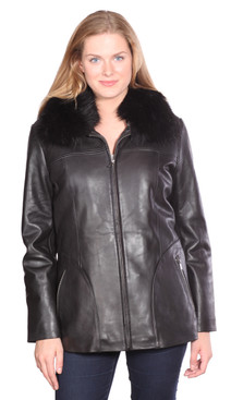 Christian NY | Bree Leather Coat