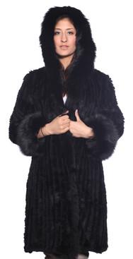 Wilda   Madison Fox Fur Stroller