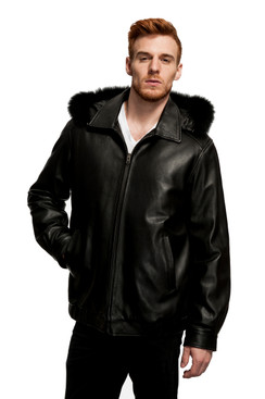 Mason & Cooper | Lanza Leather/Fox Trim Jacket