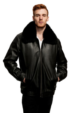 Mason & Cooper | Alec Leather/Fox Collar Jacket