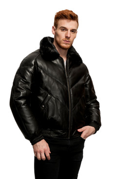 Original Goose | James Leather/Down Filled V-Bomber