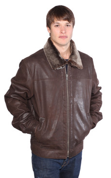Wilda | Clay Leather Jacket