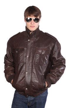 Wilda | Knox Leather Bomber