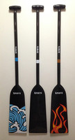 Xspirits carbon fibre dragon boat paddles - limited edition designs.