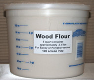 Wood Flour 5 Quarts - 2  (Two 5qt containers)