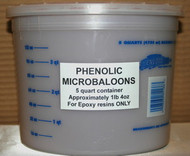 PHENOLIC MICROBALOONS (THREE)  5 qt Containers  $78.00