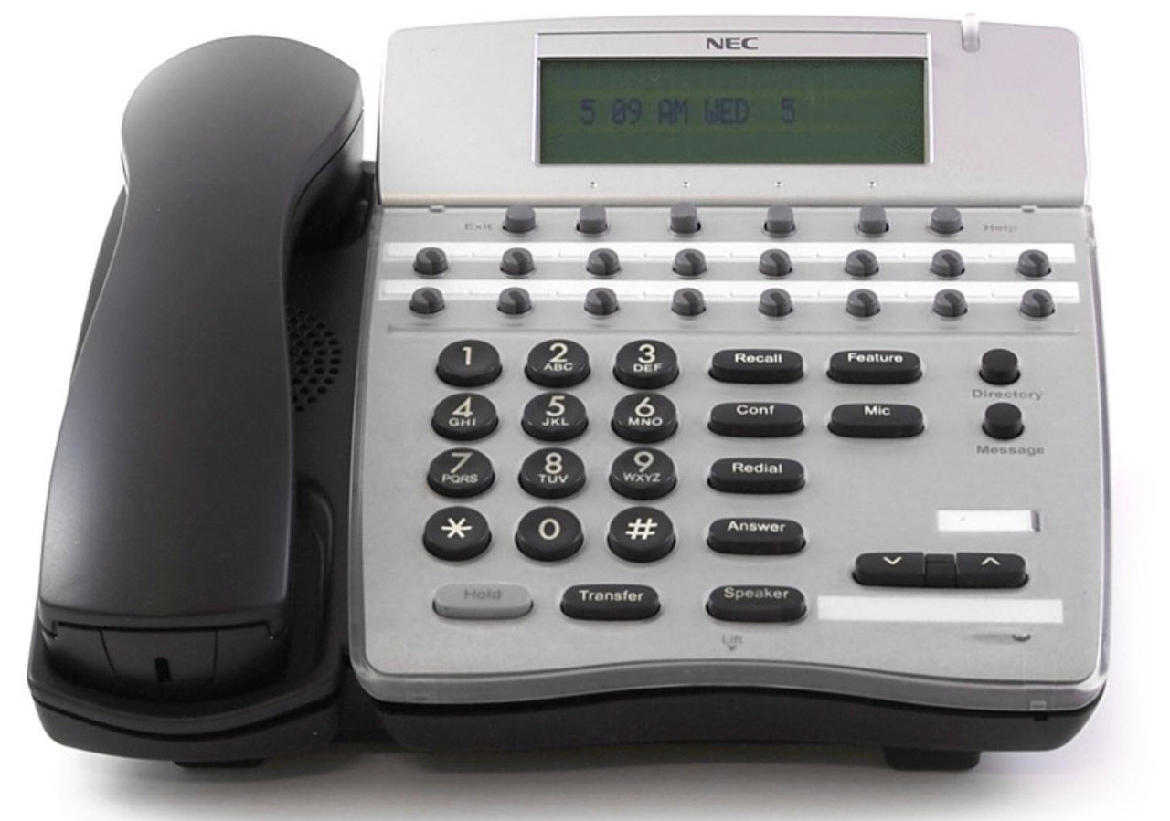 1 READY TO USE WARRANTY NEC DTERM 80 16D-2 PHONE REFURBISHED w//cords