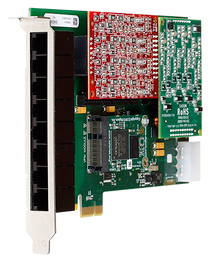 Digium 1A8B06F 8 Port Analog PCIe Card