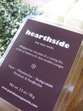Hearthside Soy Wax Melts - Hot Cocoa, Sweet Woodsmoke, Bayberry... Yuletide Limited Edition