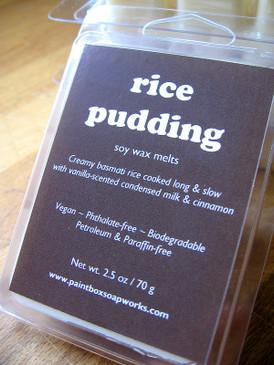 Rice Pudding Soy Wax Melts - Aromatic Rice, Cinnamon, Vanilla, Condensed Milk...