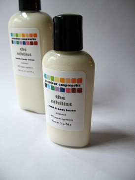 The Nihilist SAMPLE SIZE Organic Hand and Body Lotion - Unscented, Colorant-Free...