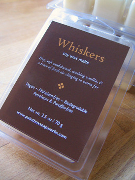 Whiskers Soy Wax Melts - Dry Sandalwood, Vanilla, Fresh Air... Updated Formula