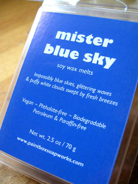 Mister Blue Sky Soy Wax Melts - Blue Skies, White Clouds, Fresh Air...