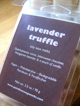 Lavender Truffle Soy Wax Melts - Dutch-Process Cocoa, Lavender, Vanilla...