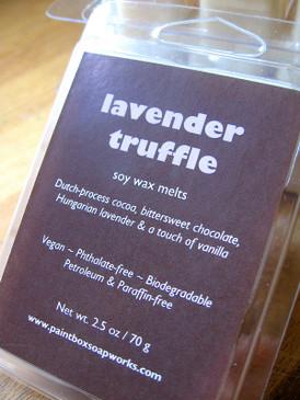 Lavender Truffle Soy Wax Melts - Dutch-Process Cocoa, Lavender, Vanilla...