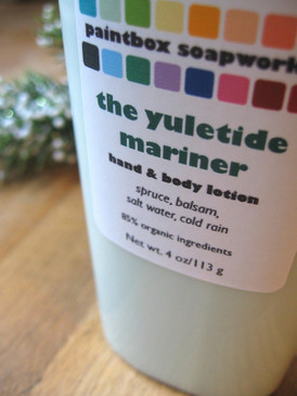 The Yuletide Mariner Organic Hand and Body Lotion - Spruce, Balsam, Salt Water, Cold Rain... Yuletide Limited Edition