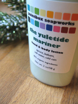 The Yuletide Mariner Organic Hand and Body Lotion SAMPLE SIZE - Spruce, Balsam, Salt Water, Cold Rain... Yuletide Limited Edition