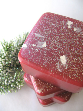 Roses in the Snow Luxury Glycerin Soap - Red Rose, Fir Needle, Incense... Yuletide Limited Edition