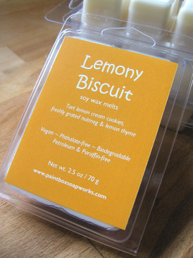 Lemony Biscuit Soy Wax Melts - Lemon Cream Cookies, Lemon Thyme, Nutmeg... Spring Limited Edition